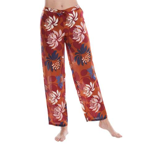 Laurence Tavernier Cinnamon Blom Silk Pants