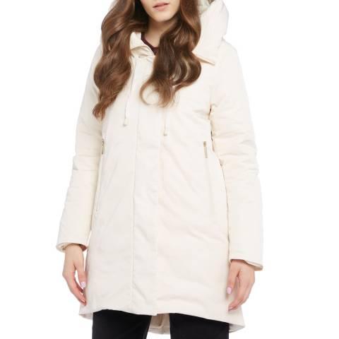 STEFANEL Cream Hooded Coat