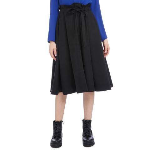 STEFANEL Black Midi Length Skirt