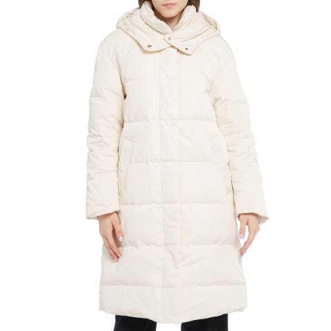 STEFANEL Cream Hooded Coat