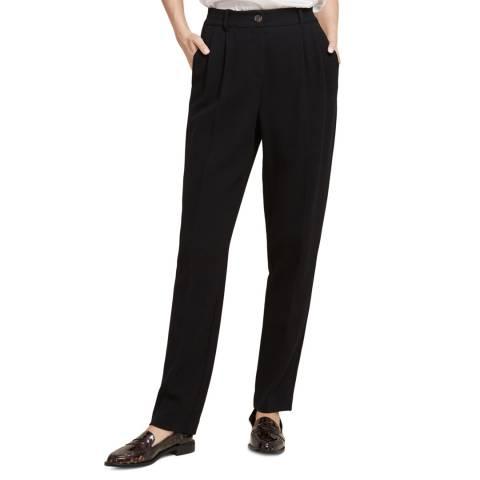 STEFANEL Black Wool Blend Trousers