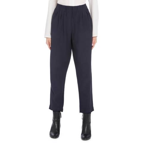 STEFANEL Navy Elasticated Stretch Trouser