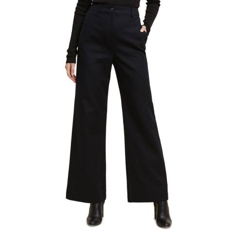 STEFANEL Black High Rise Stretch Trousers