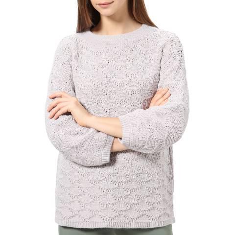 STEFANEL Pale Grey Wool Blend Jumper
