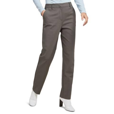 STEFANEL Grey Cotton Blend Stretch Trousers