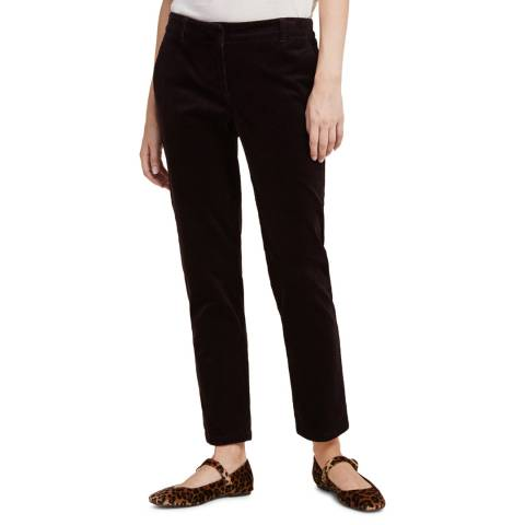 STEFANEL Brown Cotton Straight Trousers