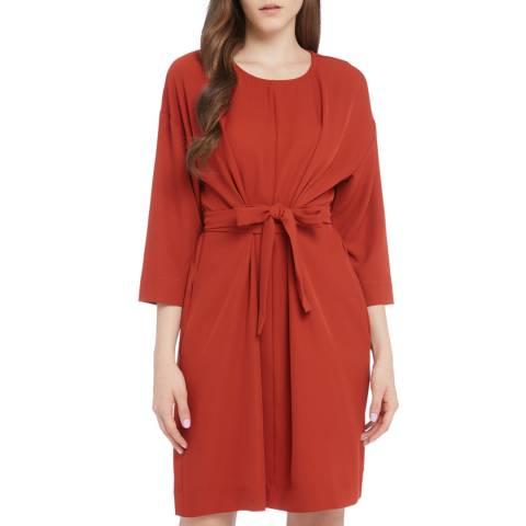 STEFANEL Red Knee Length Dress
