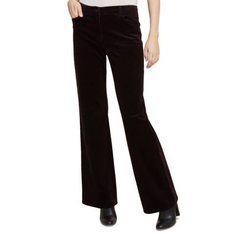 STEFANEL Brown Wide Leg Trousers