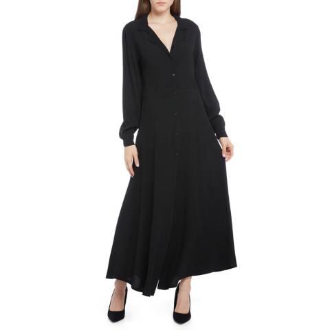 STEFANEL Black Deep V Maxi Dress