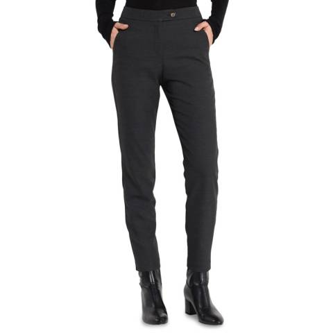 STEFANEL Charcoal Fitted Trousers