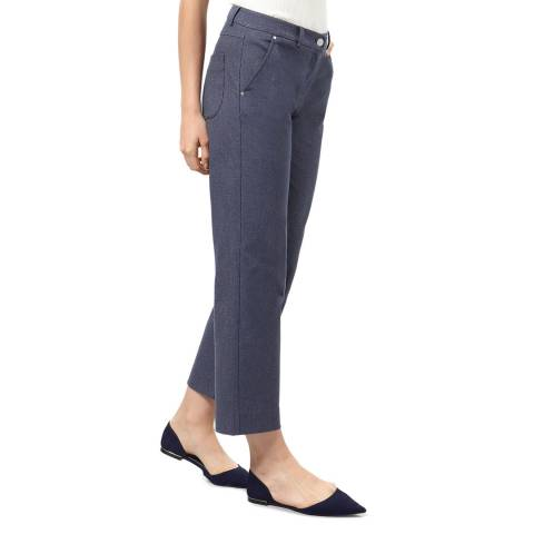 STEFANEL Grey Cotton Blend Cropped Jeans