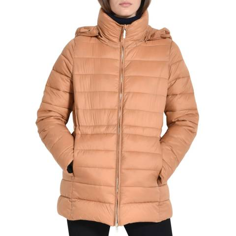 STEFANEL Camel Light Weight Puffer Coat