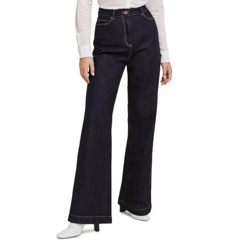 STEFANEL Dark Blue Wide Leg Jeans
