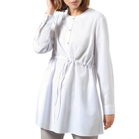 STEFANEL White Cotton Blend Blouse