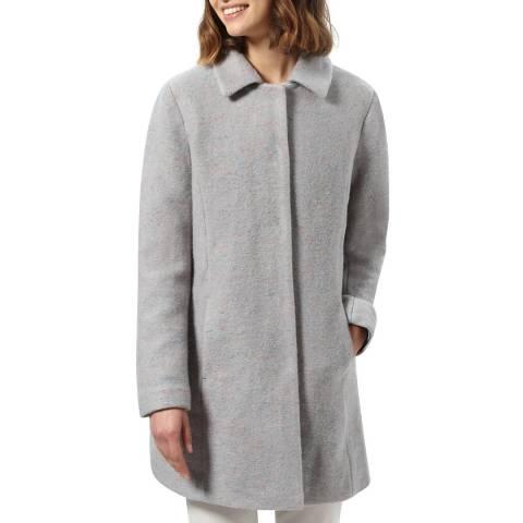 STEFANEL Pale Grey Wool Blend Coat