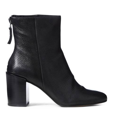 Dolce Vita Black Cyan Leather Ankle Boot