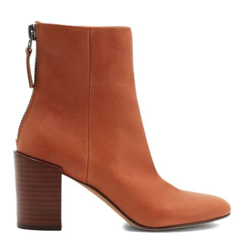 Dolce Vita Brown Cyan Leather Ankle Boot