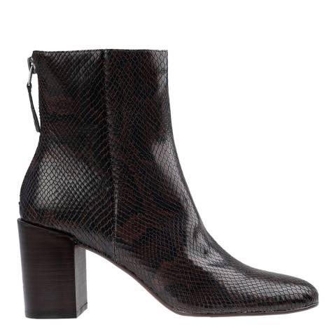 Dolce Vita Brown Cyan Snake Ankle Boot