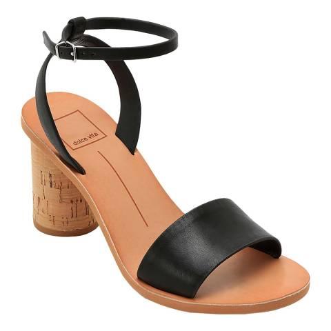 Dolce Vita Black Jali Heeled Sandal