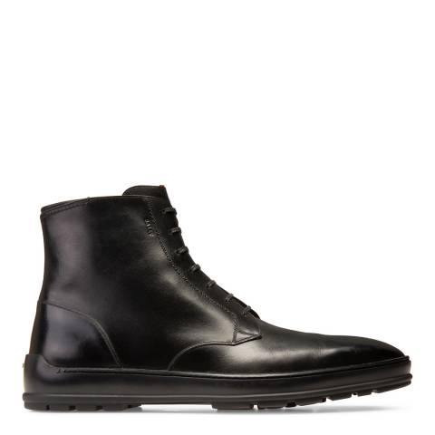 BALLY Black Leather Reingold Boots