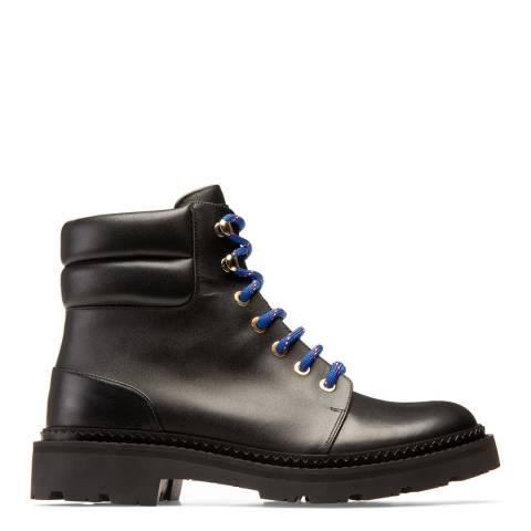 BALLY Black Ganya Fur Leather Boots
