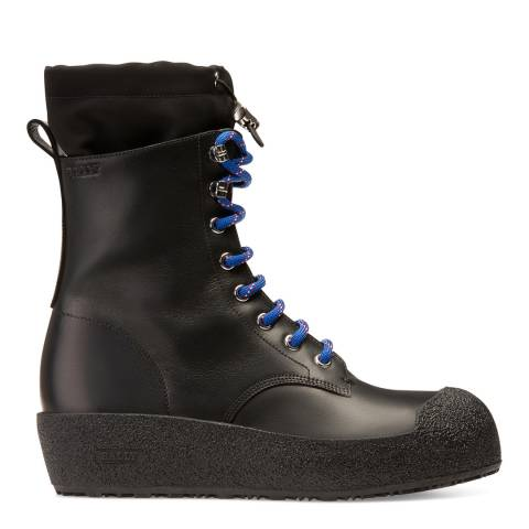 BALLY Black Candace Leather Snow Boot
