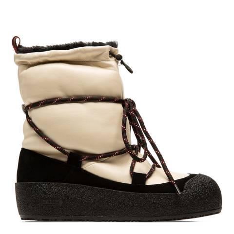 BALLY Cream Nappa Leather Candye Snow Boots