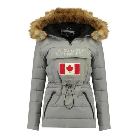 Canadian Peak Girl's Grey Bunnypeak Parka Jacket