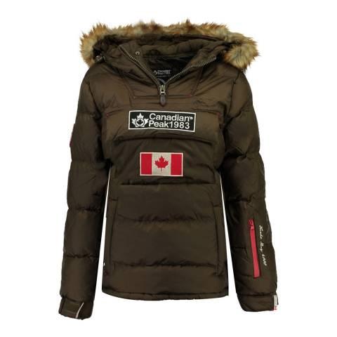 Canadian Peak Girl's Khaki Bettycheak Parka Jacket