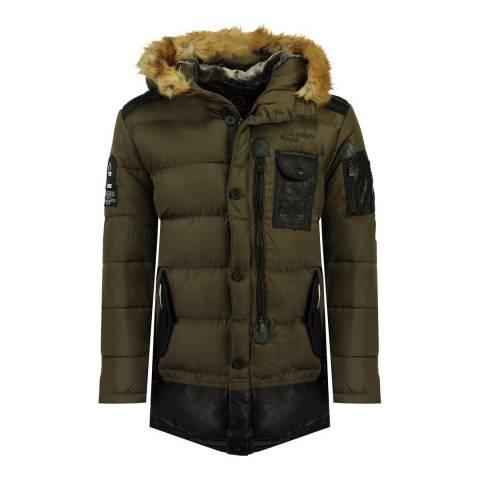 Canadian Peak Boy's Khaki Bustipeak Parka Jacket