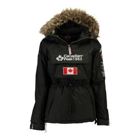 Canadian Peak Girl's Black Banapeak Parka Jacket