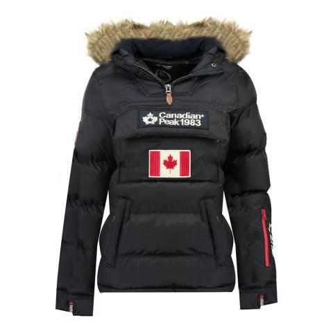 Canadian Peak Girl's Black Bettycheak Parka Jacket