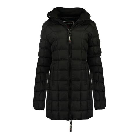 Canadian Peak Girl's Black Bambolineak Parka Jacket