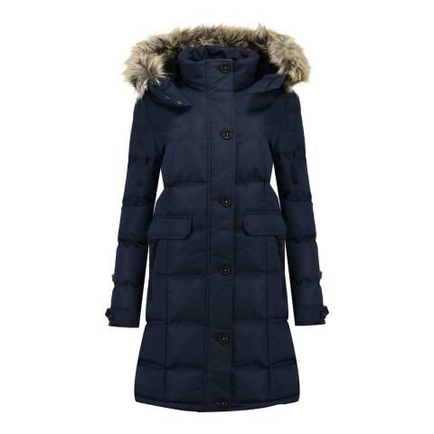 Canadian Peak Girl's Navy Catral Parka Jacket