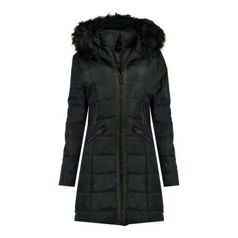 Canadian Peak Girl's Black Andreas Parka Jacket