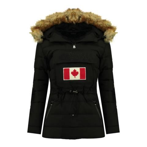 Canadian Peak Girl's Black Bunnypeak Parka Jacket