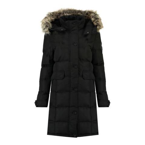 Canadian Peak Girl's Black Catral Parka Jacket