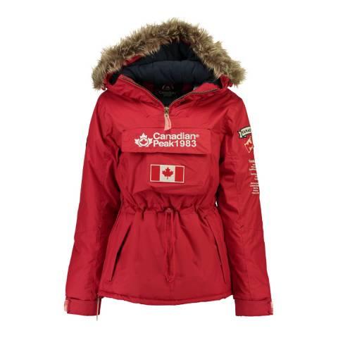 Canadian Peak Girl's Red Banapeak Parka Jacket
