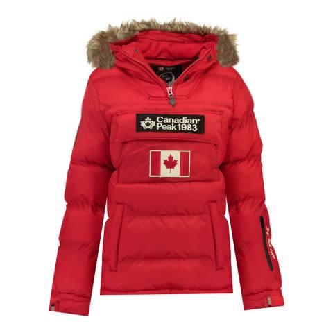 Canadian Peak Girl's Red Bettycheak Parka Jacket