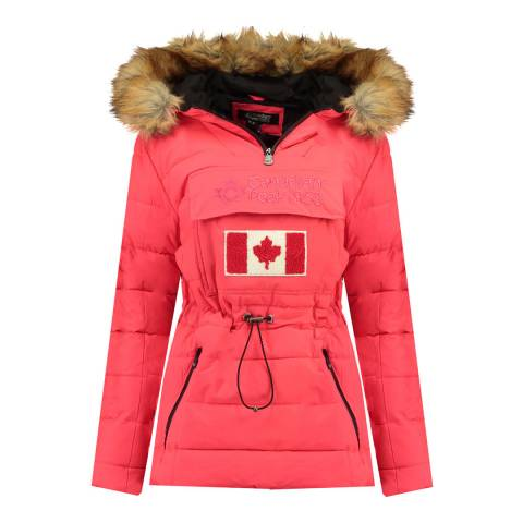 Canadian Peak Girl's Coral Bunnypeak Parka Jacket