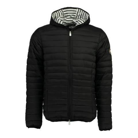 Geographical Norway Boy's Black Dune Hood Parka