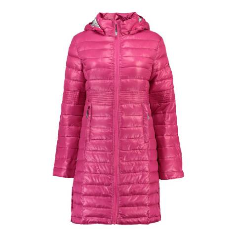 Geographical Norway Girl's Flashy Pink Afaella Parka