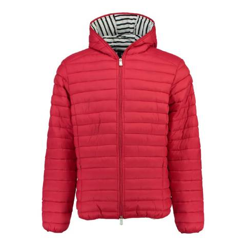 Geographical Norway Boy's Red Dune Hood Parka