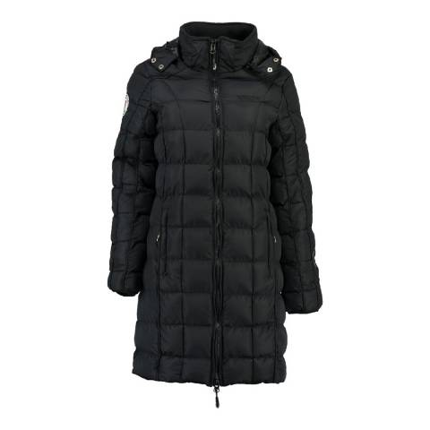 Geographical Norway Girl's Black Barbouille Long Parka