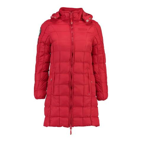 Geographical Norway Girl's Red Barbouille Long Parka