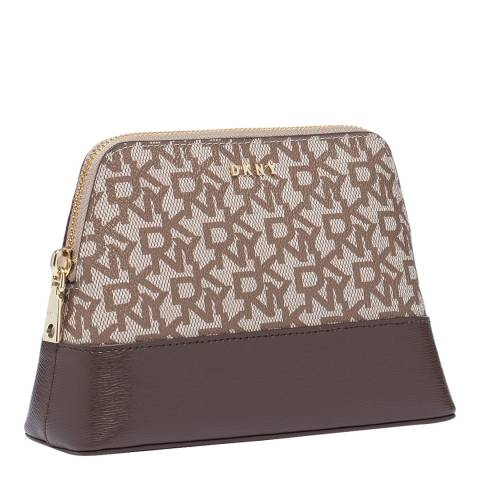 DKNY Chino Brown Bryant Cosmetic Case