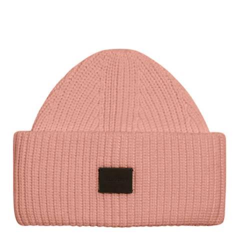 AllSaints Sorrell Pink Fern Cuff Beanie