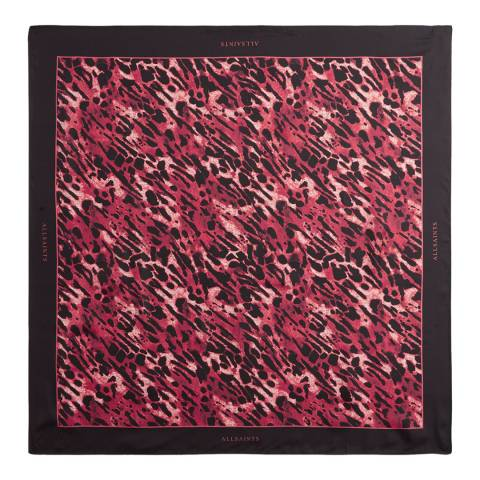AllSaints Red Ambient Silk Square