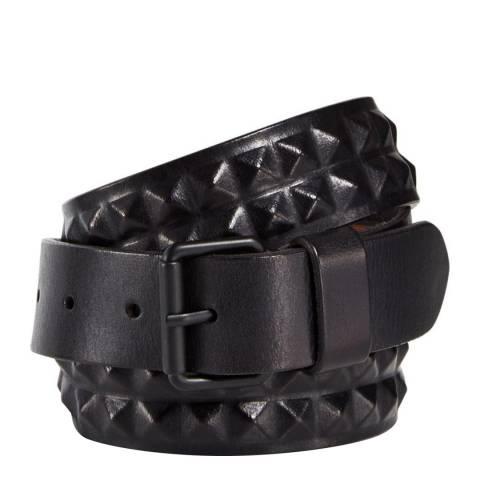 AllSaints Black Pyramid Stud Belt 35mm