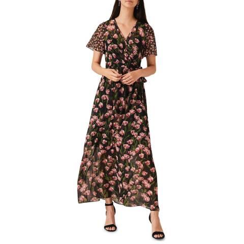 Phase Eight Black Floral Valentina Maxi Dress